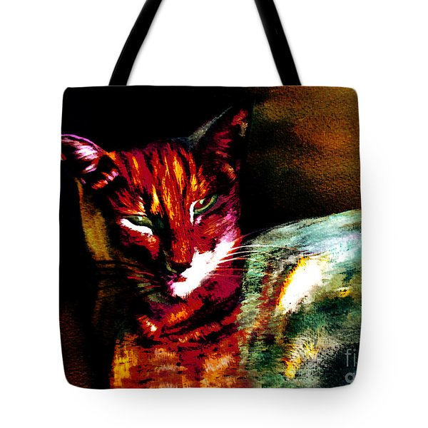 Lucifer Sam Tiger Cat Tote Bag