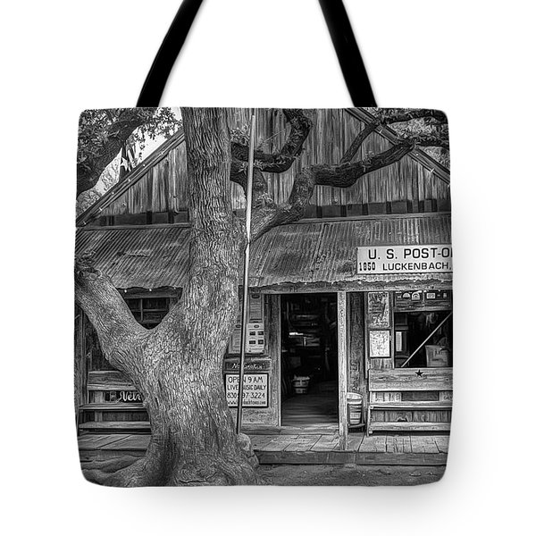 Luckenbach 2 Black And White Tote Bag