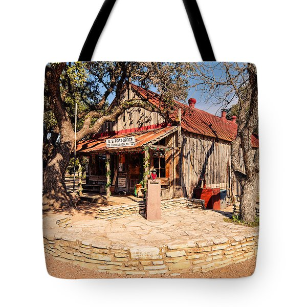 Luckenbach Post Office In Golden Hour Light - Texas Hill Country Tote Bag