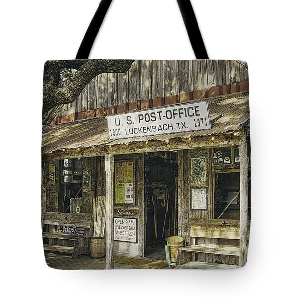 Luckenbach Tote Bag by Scott Norris