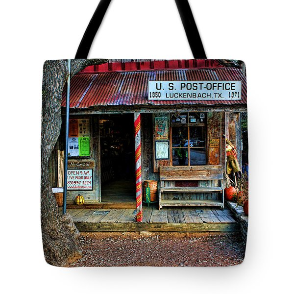 Luckenbach Texas Tote Bag by Judy Vincent
