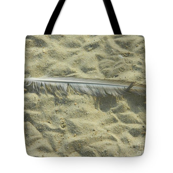 Tote Bag featuring the photograph Lucky Feather by Emmy Marie Vickers
