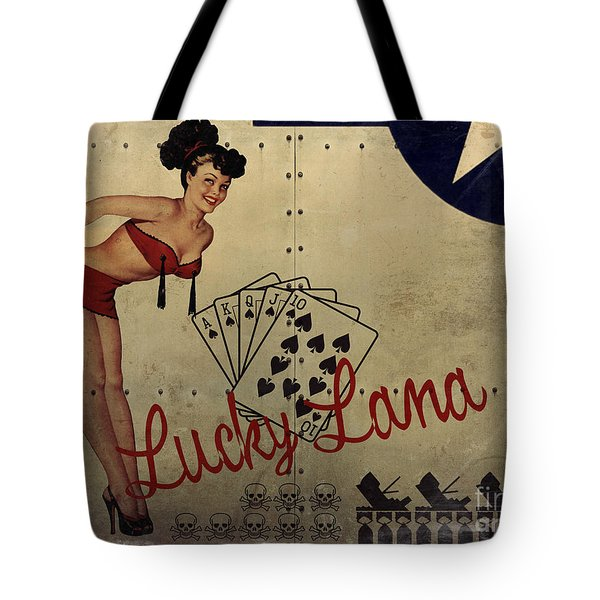 Lucky Lana Noseart Tote Bag by Cinema Photography