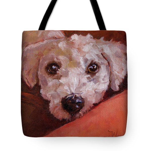 Tote Bag featuring the painting Lucky by Pattie Wall