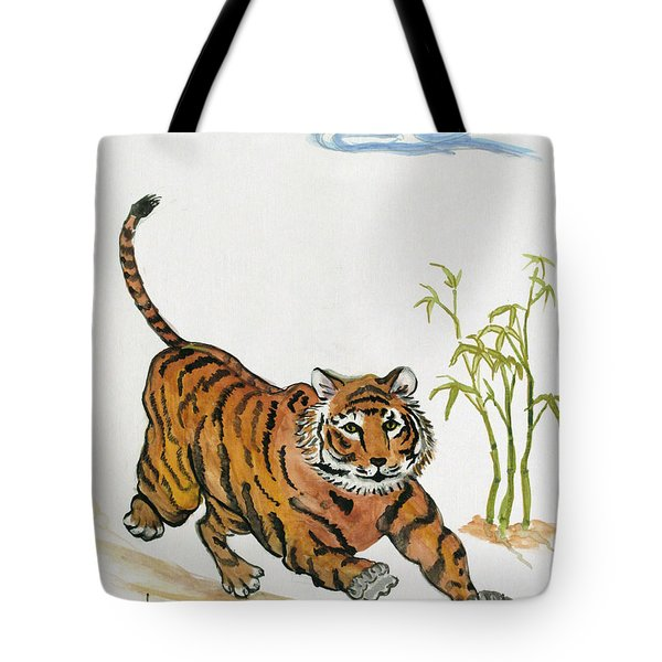 Lucky Tiger Tote Bag