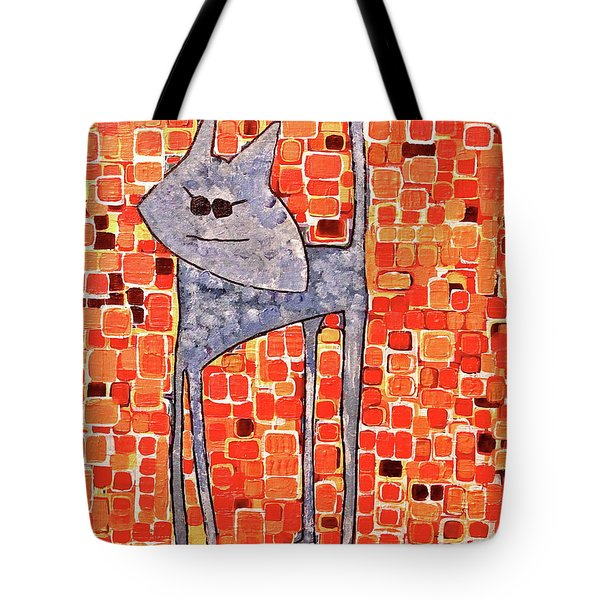 Tote Bag featuring the painting Lucy Bleu by Donna Howard