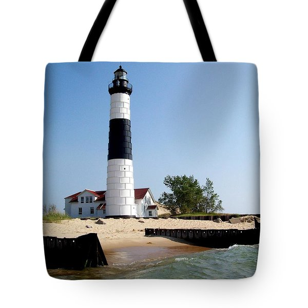 Ludington Michigan's Big Sable Lighthouse Tote Bag