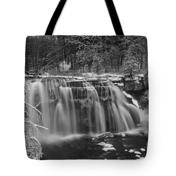 Ludlowville Falls In Winter I Tote Bag