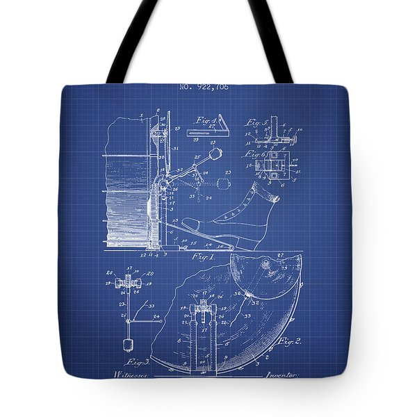 Ludwig Foot Pedal Patent From 1909 - Blueprint Tote Bag