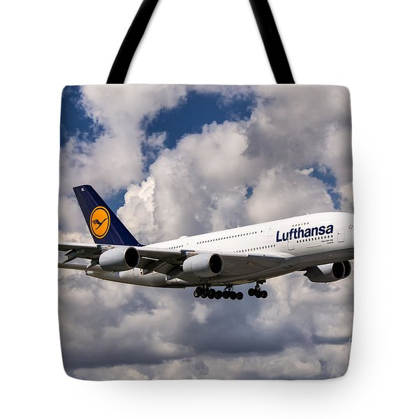 Lufthansa A380 Hamburg Tote Bag