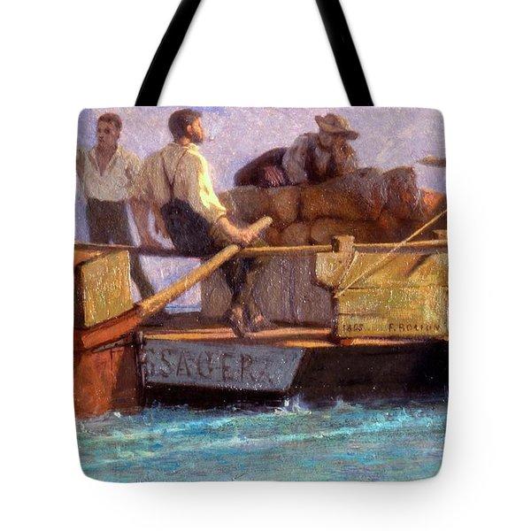 Luggage Boat Tote Bag by F.L.D. Bocion