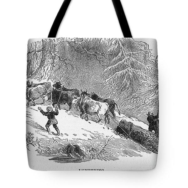 Lumbering - 1878 Tote Bag