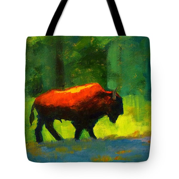 Lumbering Tote Bag by Nancy Merkle