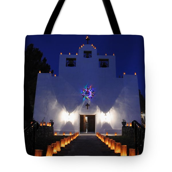 Luminarias At St Francis De Paula Tote Bag