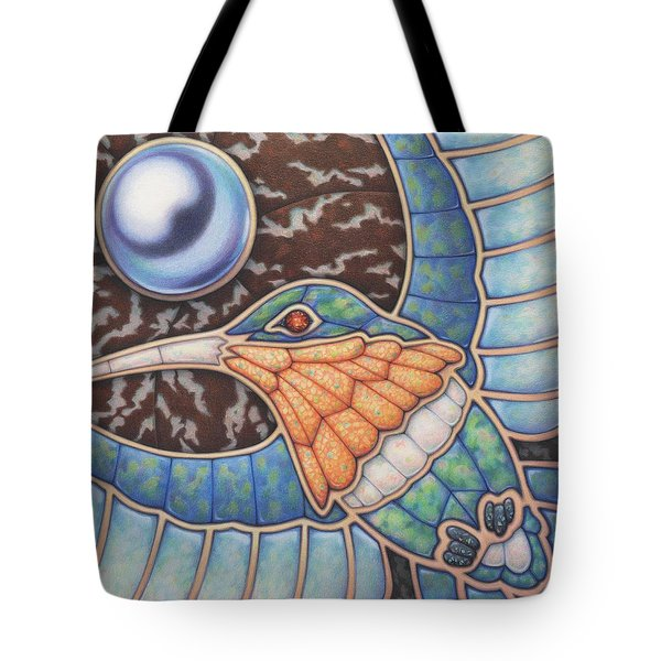 Luminosity - Study In Opal And Pearl Tote Bag by Amy S Turner
