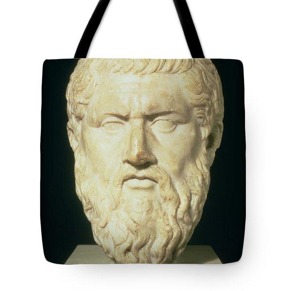 Luna Marble Head Of Plato, Roman, 1st Tote Bag