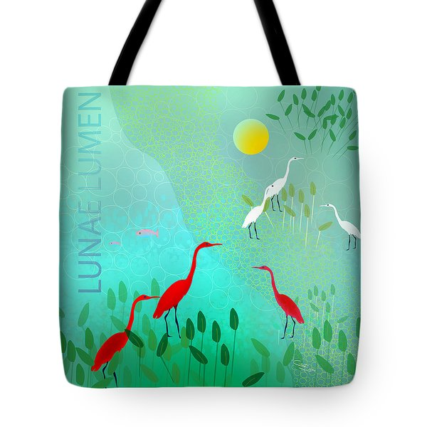 Lunae Lumen - Limited Edition Of 15 Tote Bag by Gabriela Delgado