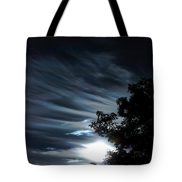 Lunar Art Tote Bag by Optical Playground By MP Ray