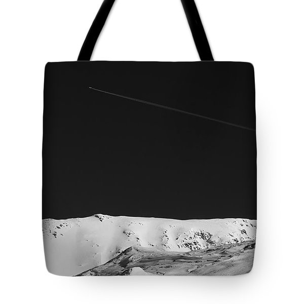 Lunar Landscape Tote Bag by Simona Ghidini