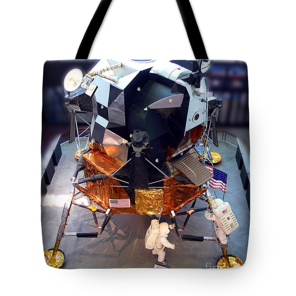 Lunar Module Tote Bag by Kevin Fortier