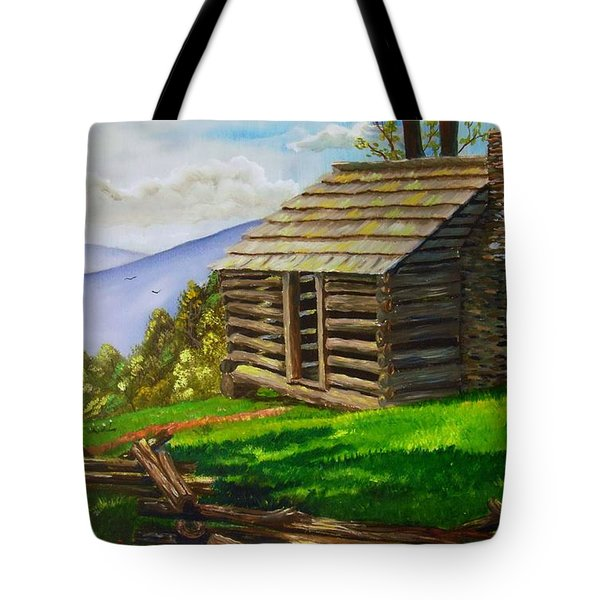 Lunch At An Old Cabin In The Blue Ridge Tote Bag