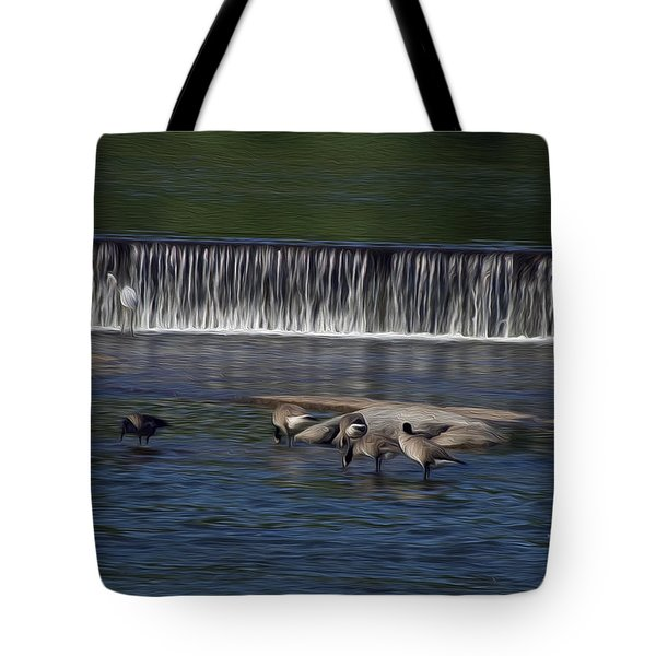 Tote Bag featuring the digital art Lunch On The James by Kelvin Booker