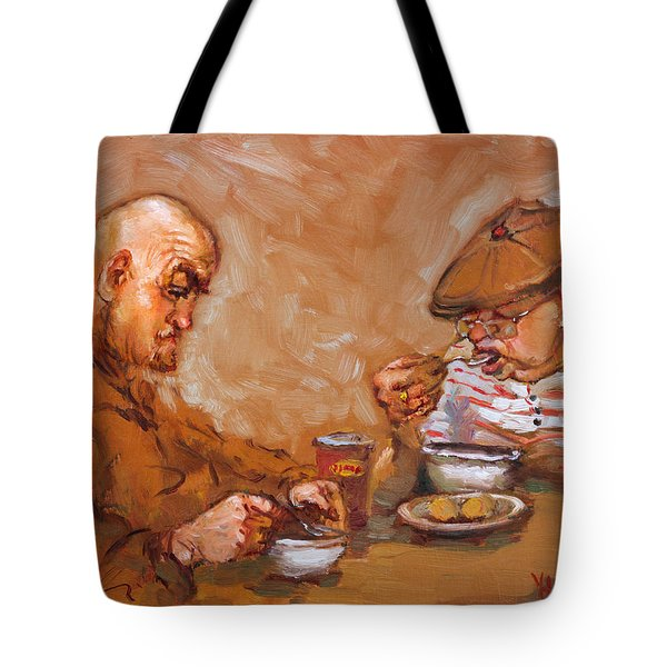 Lunchtime At Tim  Tote Bag by Ylli Haruni