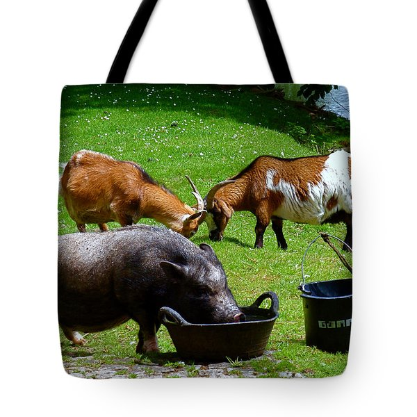 Lunchtime Tote Bag by Rona Black