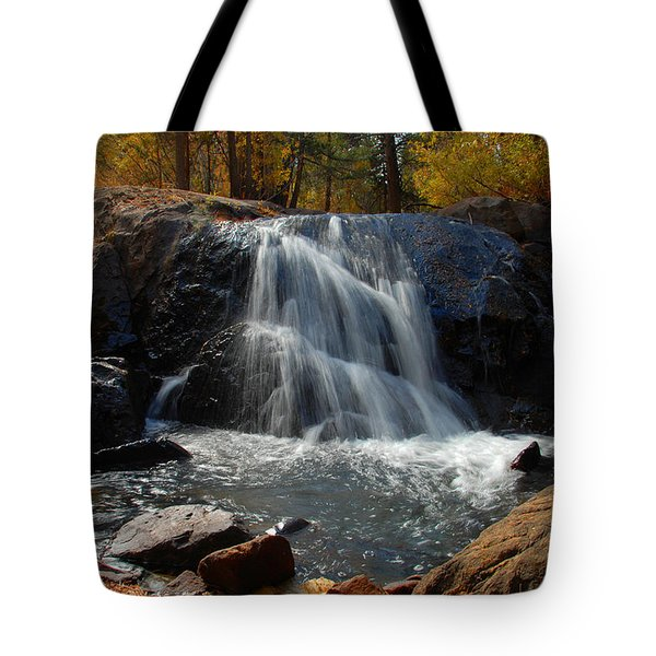 Tote Bag featuring the photograph Lundy Creek Cascades by Lynn Bauer