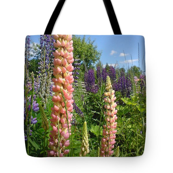 Tote Bag featuring the photograph Lupin Summer by Martin Howard