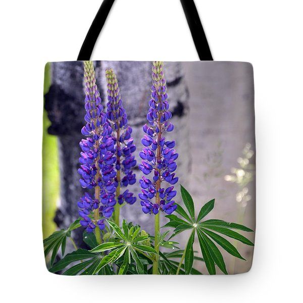 Tote Bag featuring the photograph Lupine by Dorrene BrownButterfield