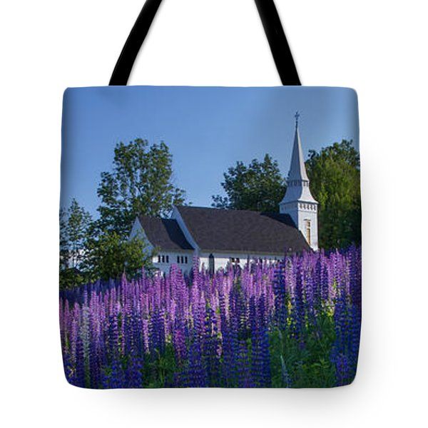 Lupines At St. Matthews In Sugar Hill Tote Bag