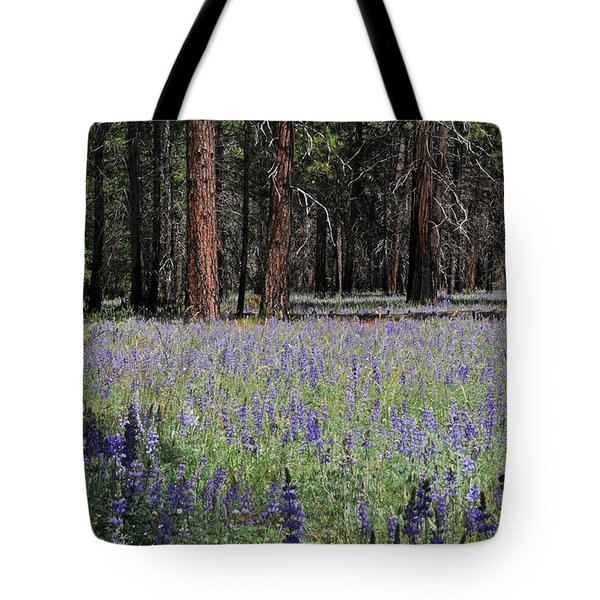 Tote Bag featuring the photograph Lupines In Yosemite Valley by Lynn Bauer