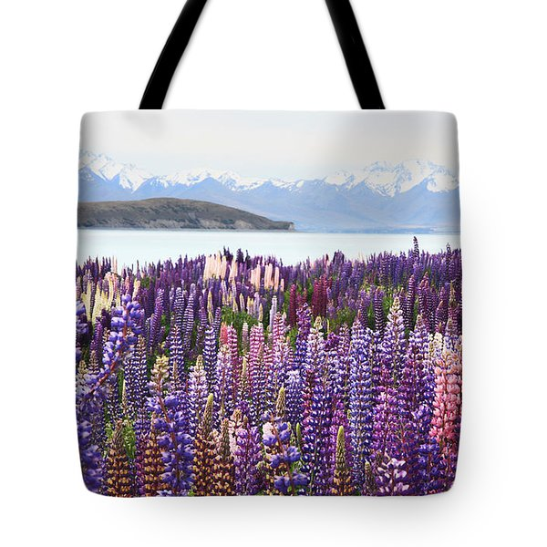 Tote Bag featuring the photograph Lupins At Tekapo by Nareeta Martin