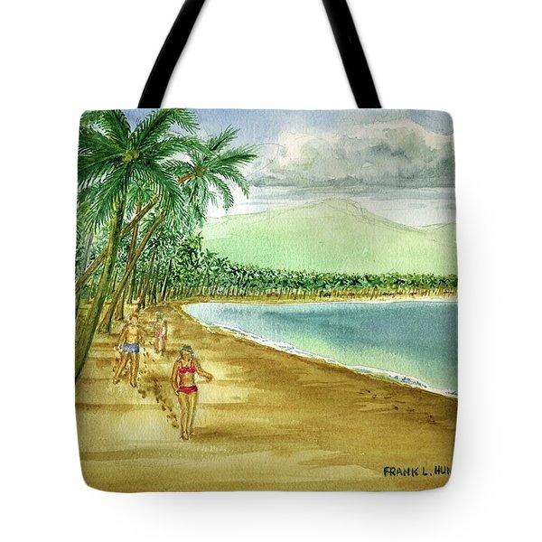 Luquillo Beach And El Yunque Puerto Rico Tote Bag by Frank Hunter