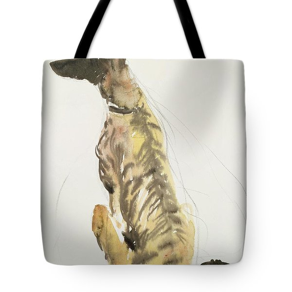 Lurcher Sitting Tote Bag by Lucy Willis