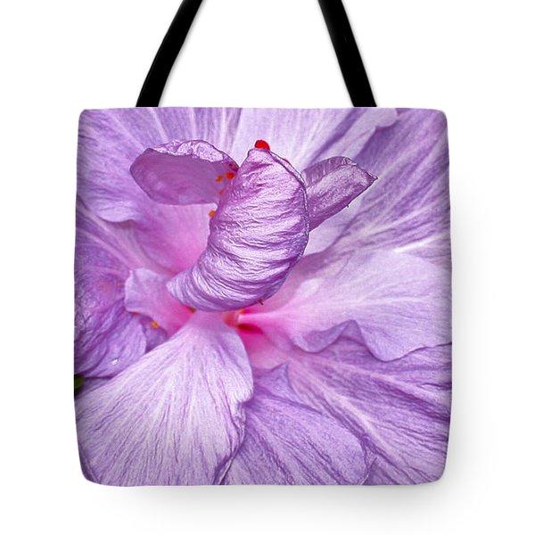 Luscious Lavender Hibiscus Tote Bag