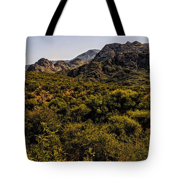 Tote Bag featuring the photograph Lush Foothills No.1 by Mark Myhaver
