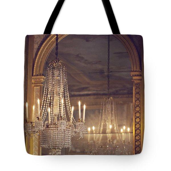 Lustre De Fontainebleau - Paris Chandelier Tote Bag