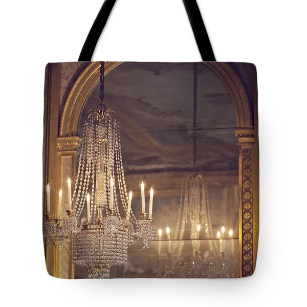 Lustre De Fontainebleau - Paris Chandelier Tote Bag by Melanie Alexandra Price