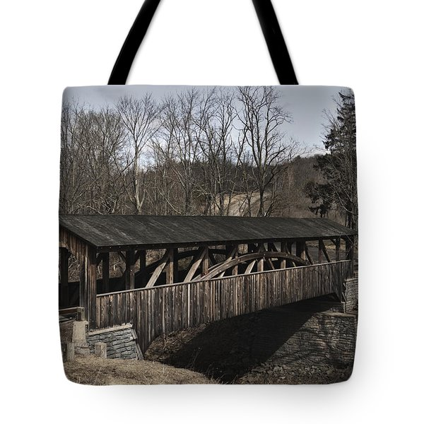 Luther's Mill Covered Bridge Tote Bag