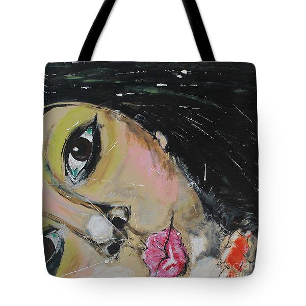 Tote Bag featuring the painting Luuli by Lucy Matta