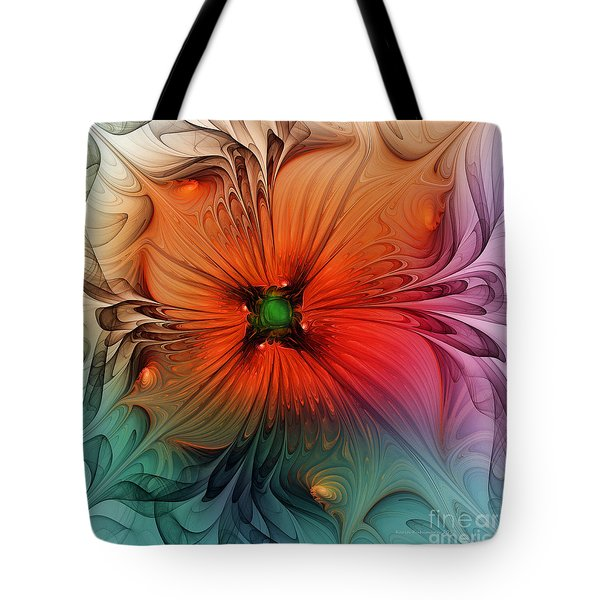 Luxury Blossom Dressed In Velvet And Silk Tote Bag
