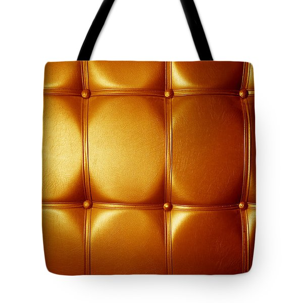 Luxury Genuine Leather. Golden Color Tote Bag by Michal Bednarek