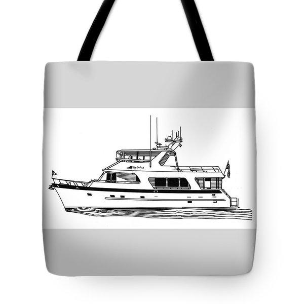 Luxury Motoryacht Tote Bag by Jack Pumphrey