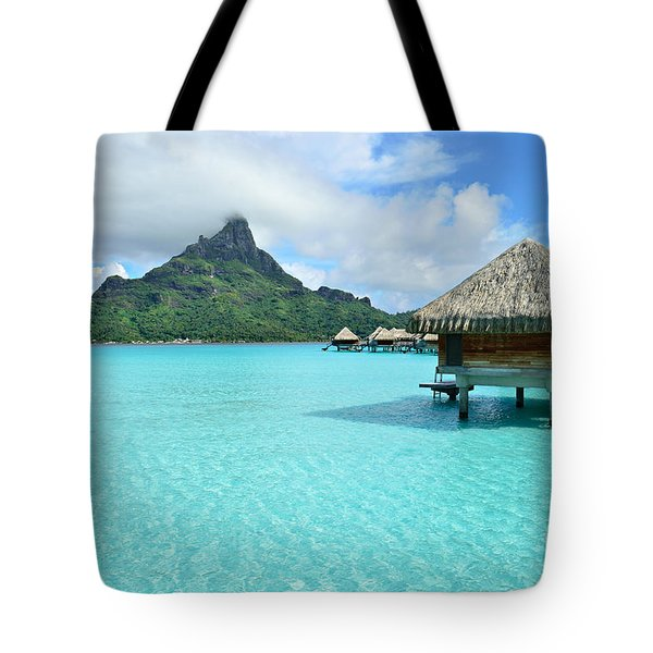 Luxury Overwater Vacation Resort On Bora Bora Island Tote Bag