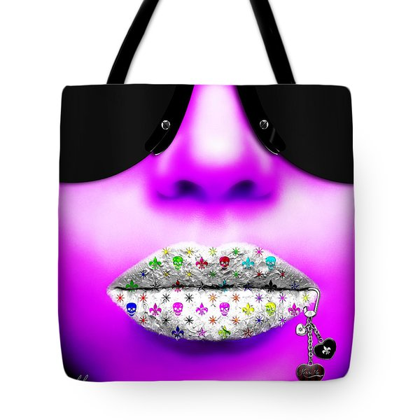 Kiss Me Purple Tote Bag