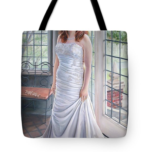 Lydia's Wedding Portrait Tote Bag