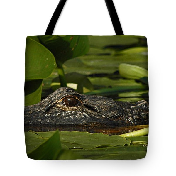 Tote Bag featuring the photograph Lying In Wait by Vivian Christopher