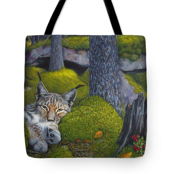 Lynx In The Sun Tote Bag by Veikko Suikkanen